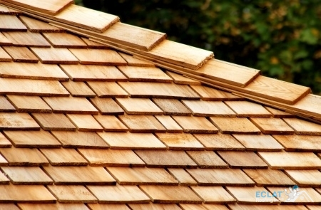 Picture of wood shake roof