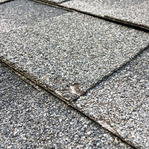 A Hail-Damaged Shingle.