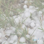 hail that fell from the sky